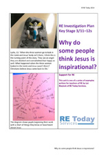 More information on Why do some people think Jesus is inspirational? KS3