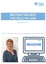More information on British Values and the rule of law - webinar recording